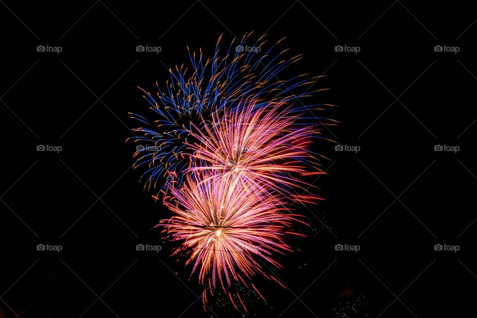 fireworks in Ohio shot long exposure