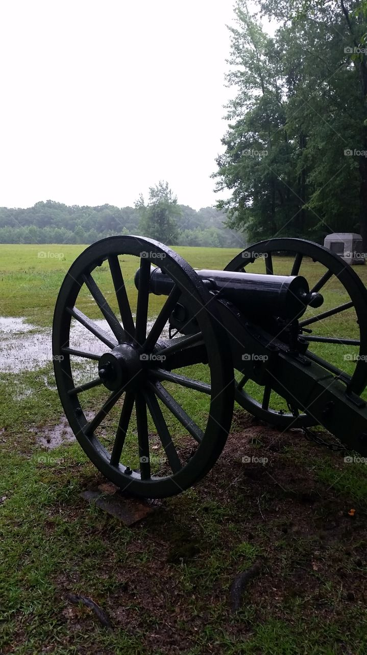 Silent Past. This cannon sits in silent testimony to the Battle of Shiloh, Tennessee