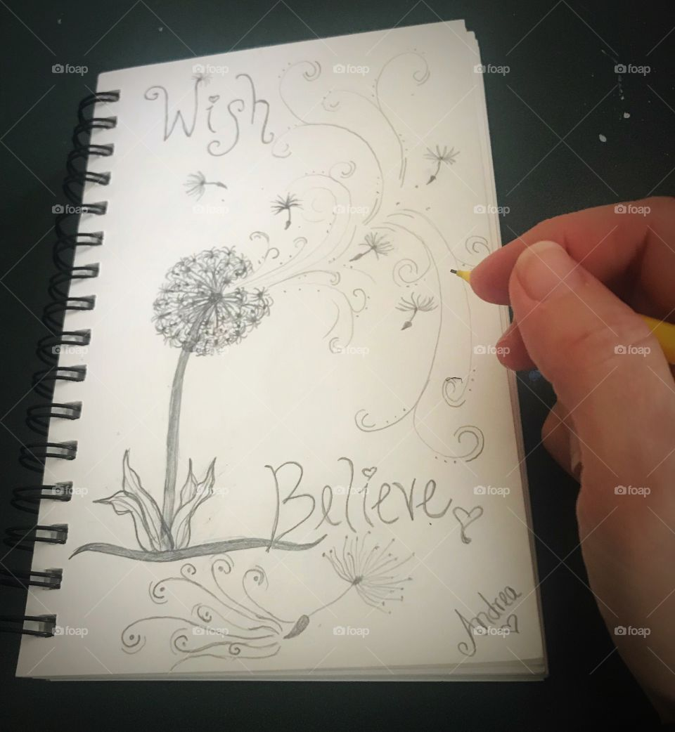 Dandelion doodle. Some see a weed, others see a wish. It's all about perception.