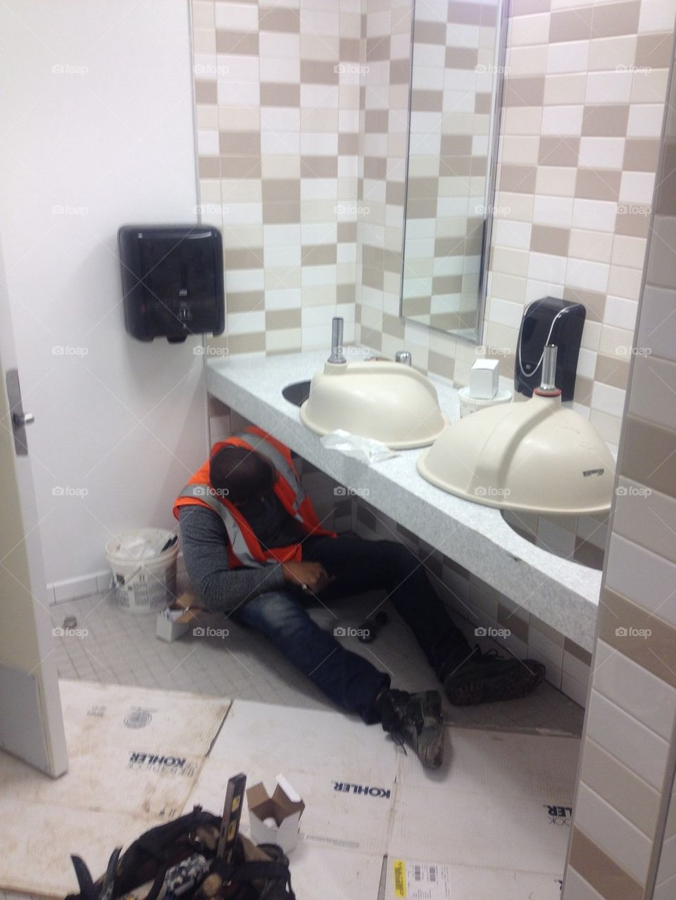 Bathroom Construction Clean