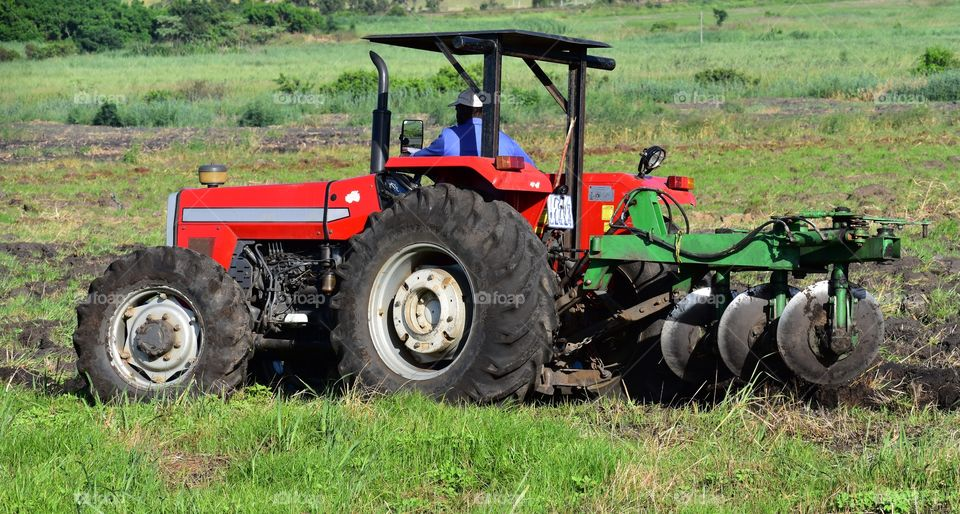 A Heavy Duty Tractor In Action.