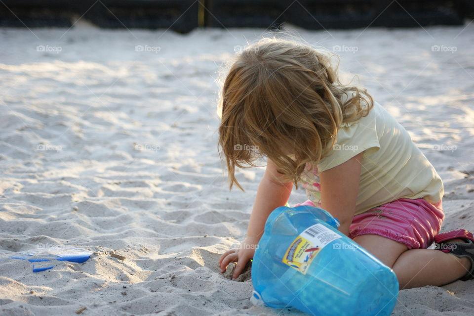 sand bucket . sand castle