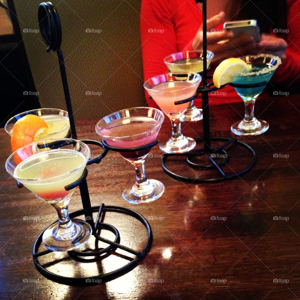 Delicious martinis with friends!