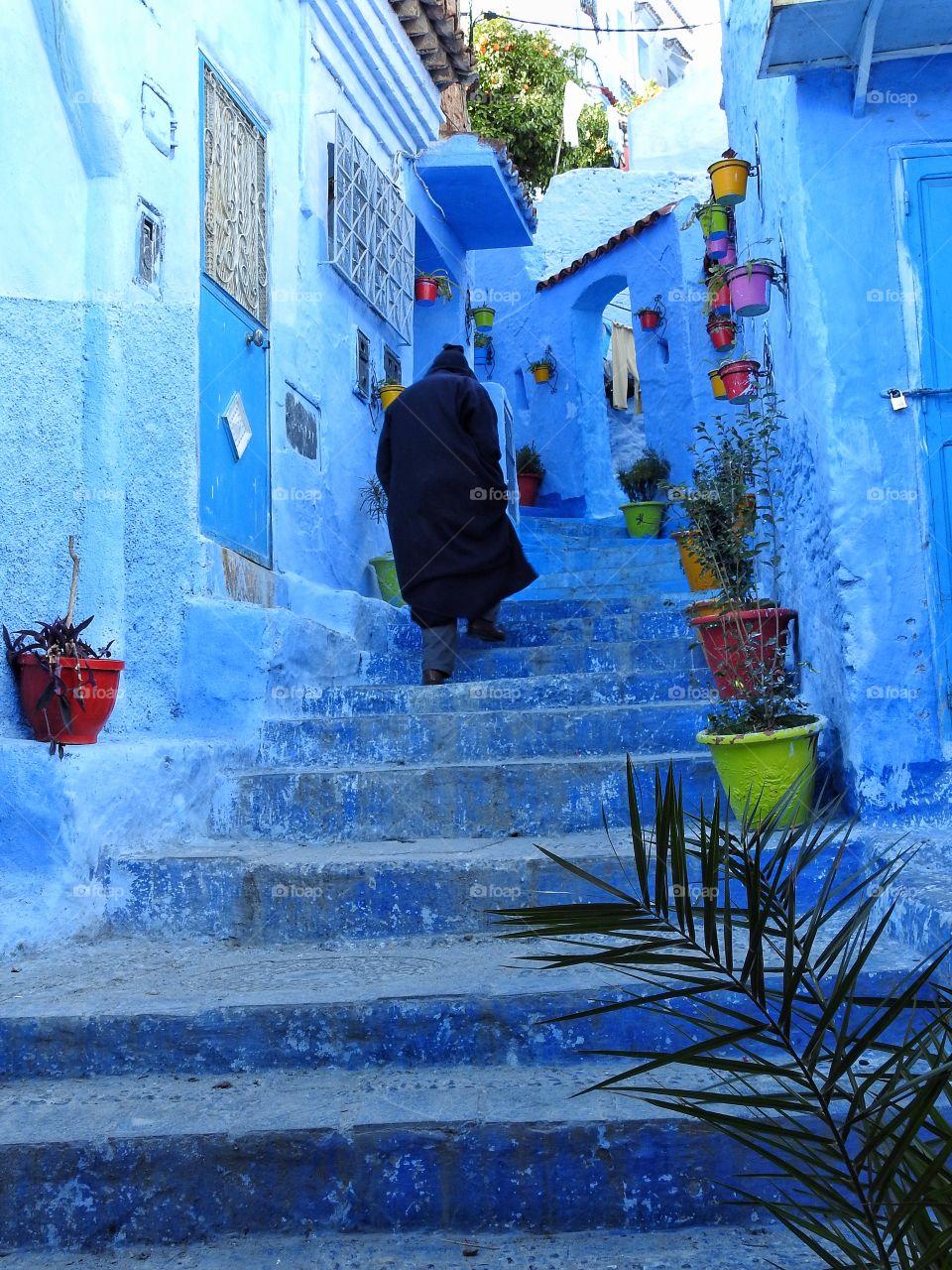 Man walking the stairs