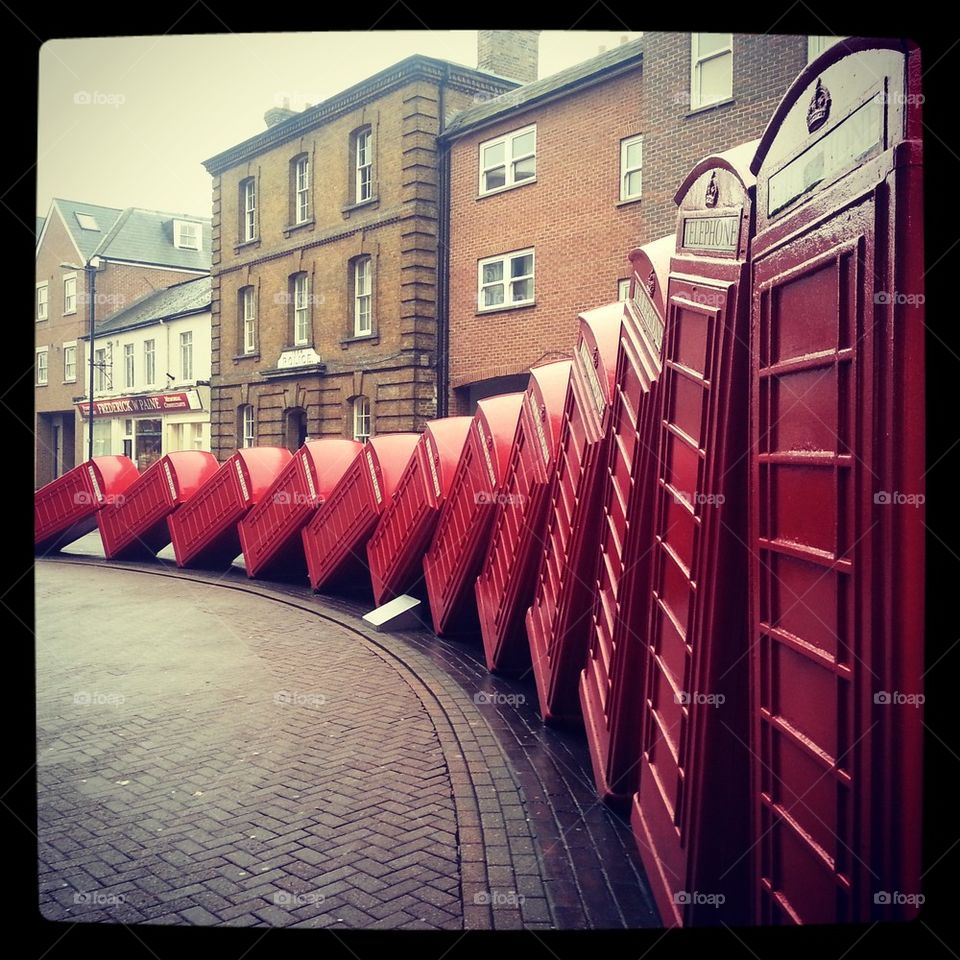 Kingston red phone boxes