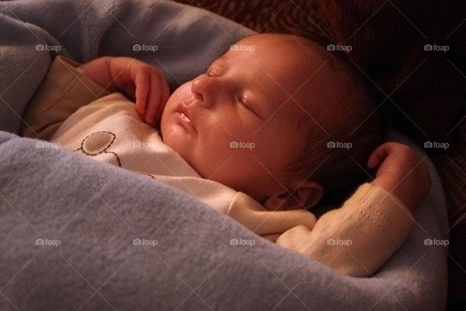 baby child sweet sleep by dryair
