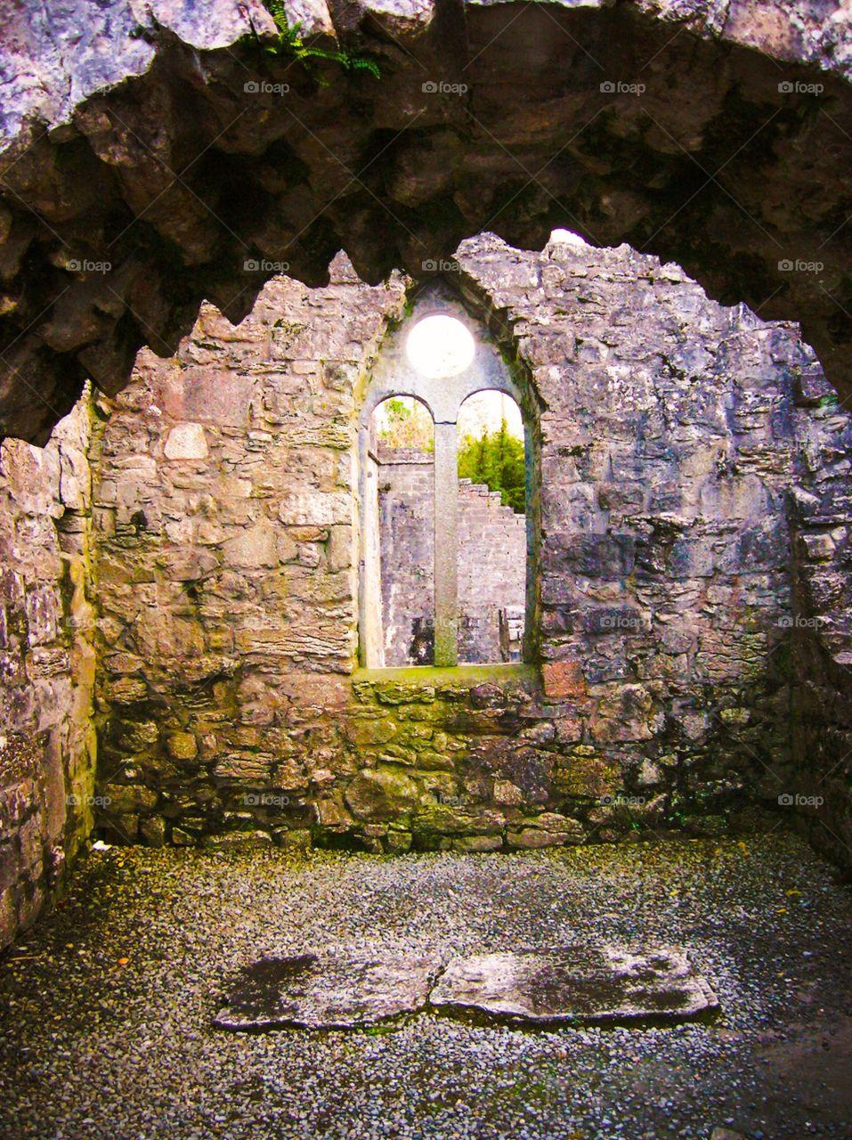 Mystical Window of Ireland. Enchanted window in Ireland