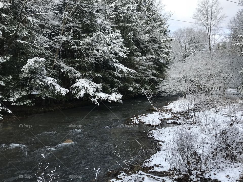Surprised to see snow in April, but enjoying the beauty it brings.
