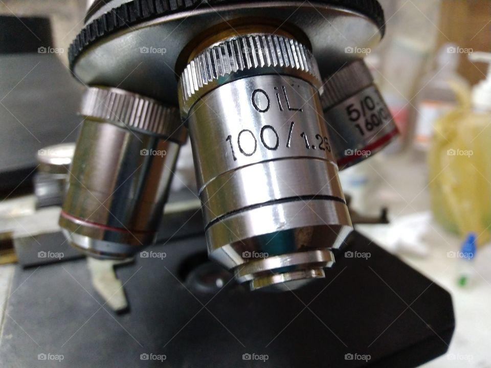 electric microscope 100x lenses