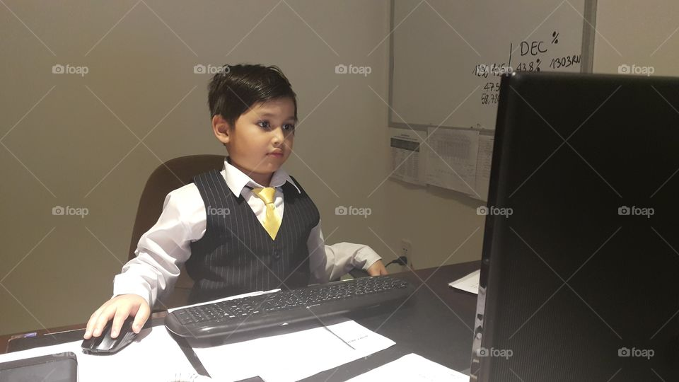 this kid is the boss
