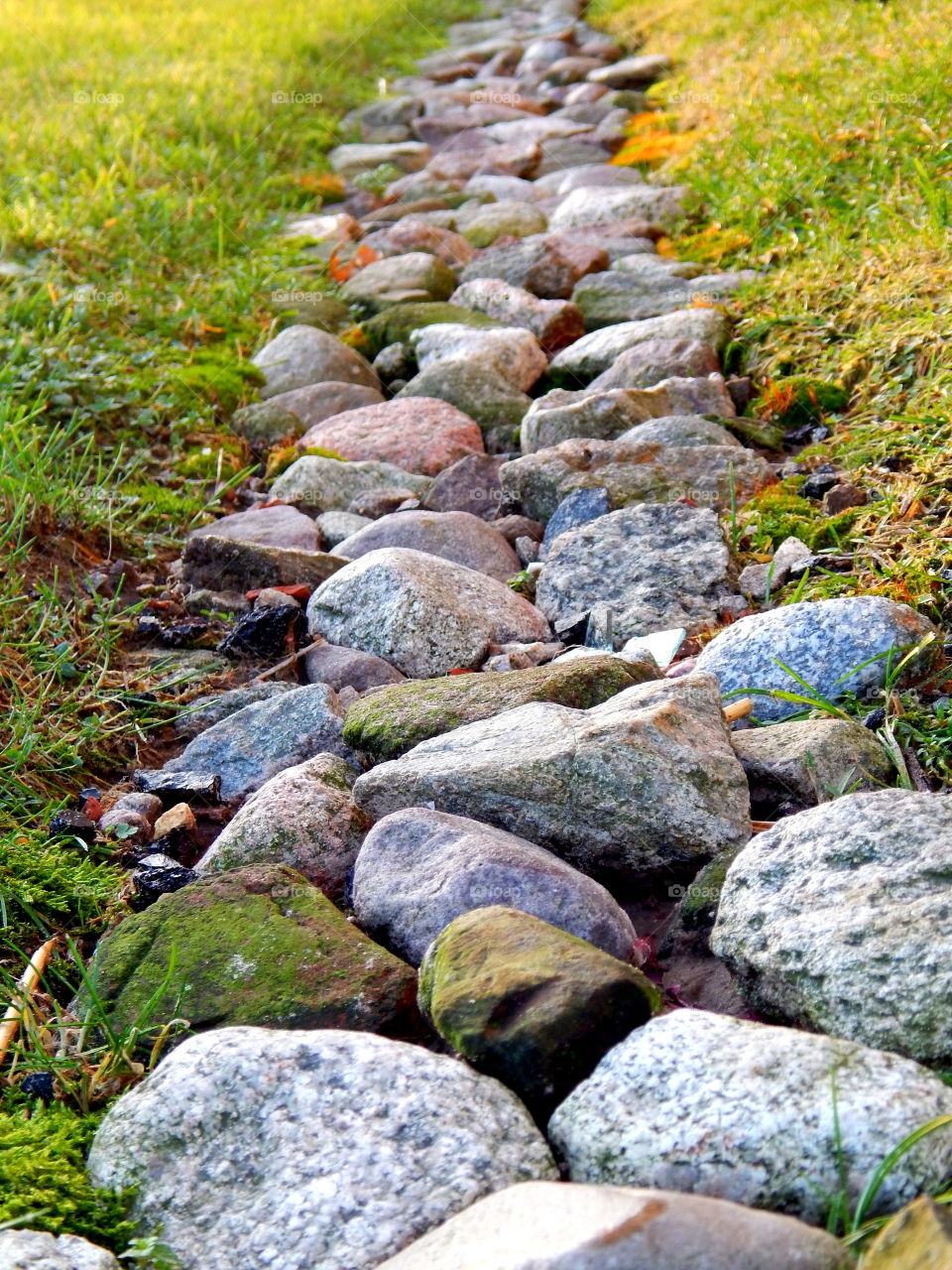 Small road made from stones