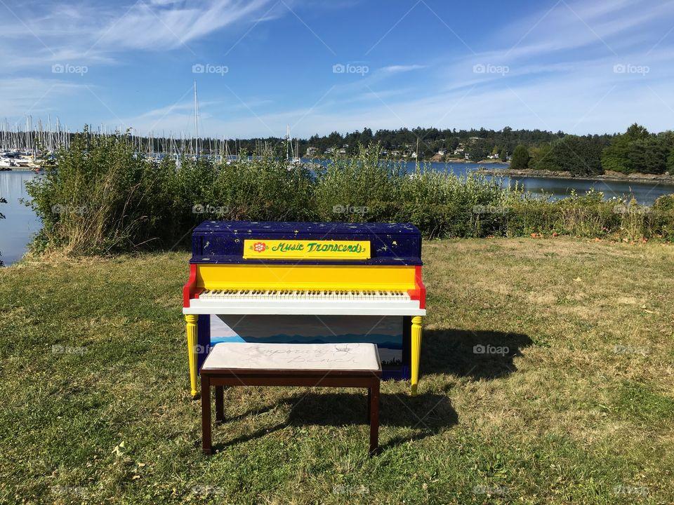 Piano near the lake