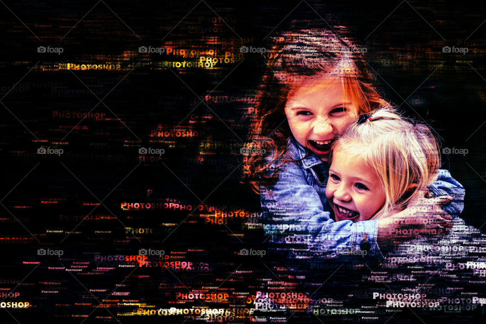 #sister #siblinglove #text #portrait #effect #creative  #ps #adobe #photoshop #edits  #designgraphic