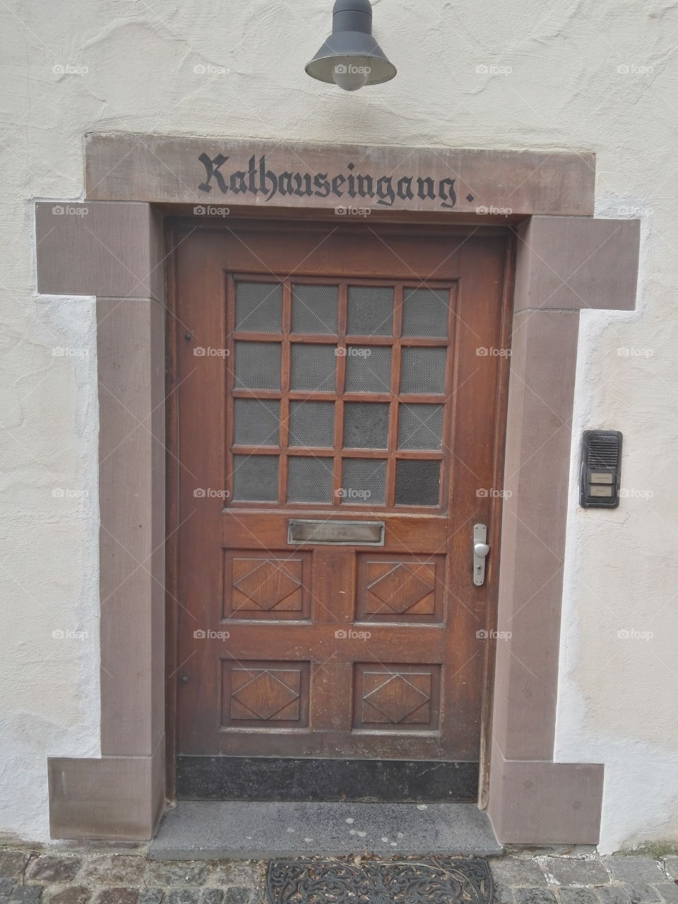old door to the town hall
