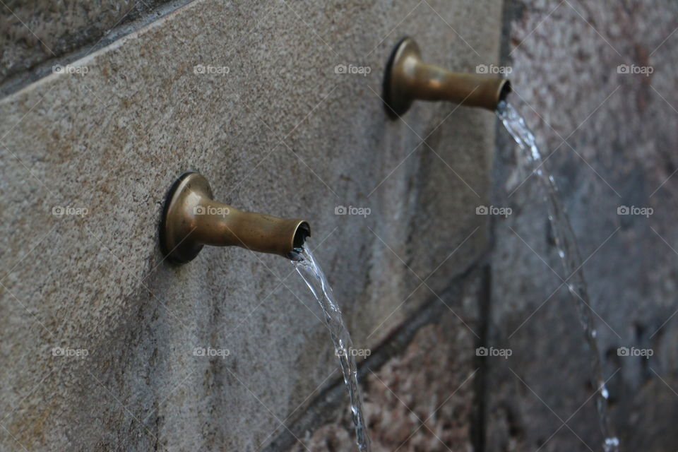No Person, Faucet, Steel, Old, Wood