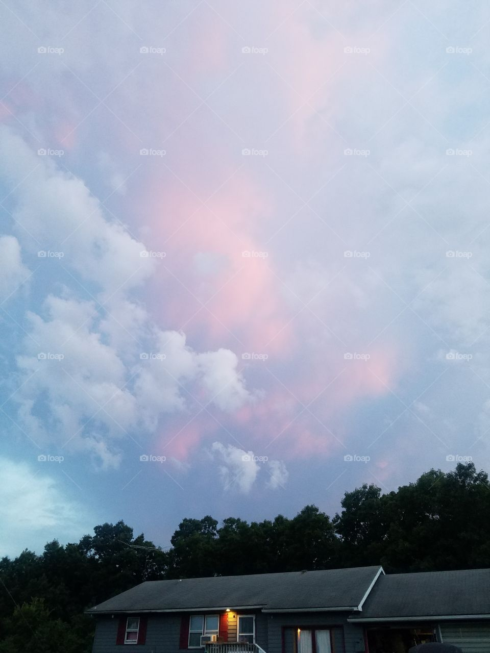beautiful colors in the clouds.