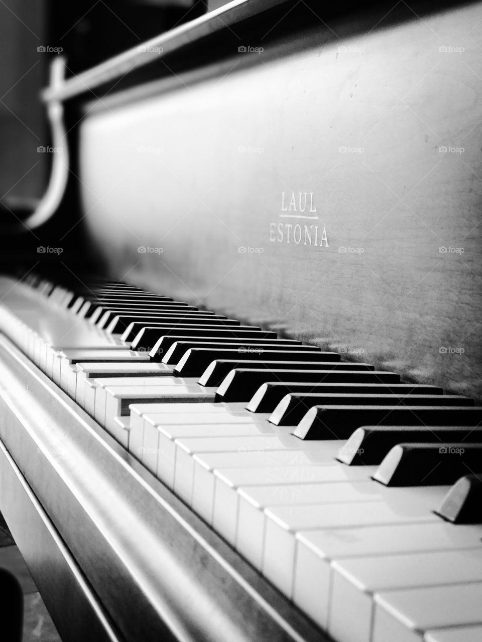 Close-up of a piano